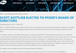 Shocking News to No One in the Kratom Community: Former FDA Commissioner Scott Gottlieb Hired to Pfizer's Board of Directors